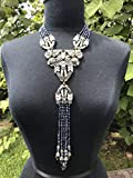 Heidi Daus Big Large 5-Strand Blue Crystal-Accented Necklace Swarovski Sold Out Simply Gorgeous