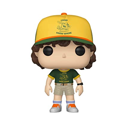 Funko- Pop Vinilo: Stranger Things: Dustin (At Camp) Figura Coleccionable, Multicolor, Estándar (38532)