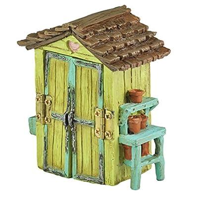 Georgetown Home & Garden Miniature Garden Shed Garden Decor: Garden & Outdoor