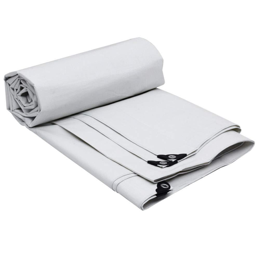 YANGJUN オーニング プラスチッククロス 屋外 厚い 白 耐寒性 日焼け止め 保存剤、 13サイズをカスタマイズすることができます (色 : 白, サイズ さいず : 6.8x4.8m) 6.8x4.8m 白 B07MPYJDCX