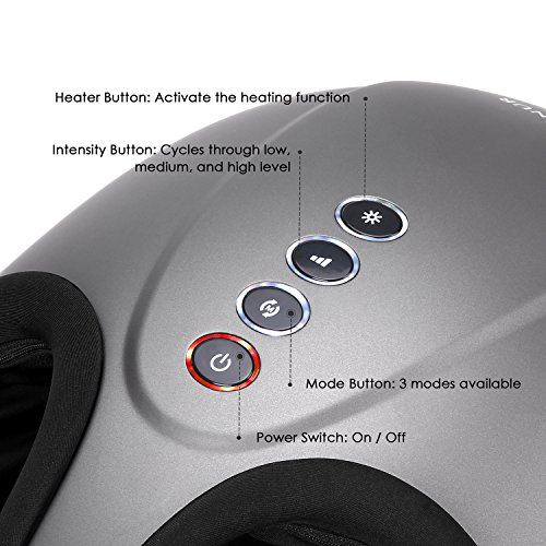 MARNUR Foot Massager Shiatsu Deep Kneading Massage with Heat Rolling and Air Compression for Home Office