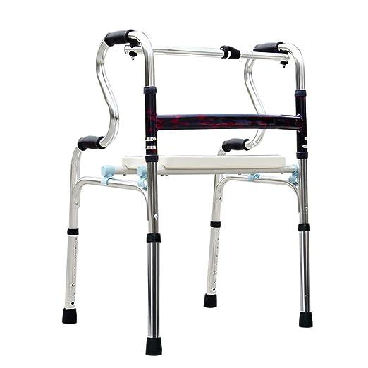 DONG Plegable Andador para discapacidad con Asiento Regulable en ...