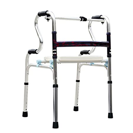 DONG Plegable Andador para discapacidad con Asiento ...
