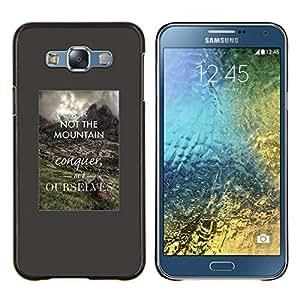 EJOOY---Cubierta de la caja de protección para la piel dura ** Samsung Galaxy E7 E700 ** --conquistar a ti mismo cita inspiradora inteligente