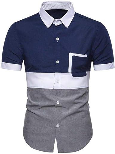 ABO Blusa de Manga Corta para Hombres Camisa de Hombre de ...