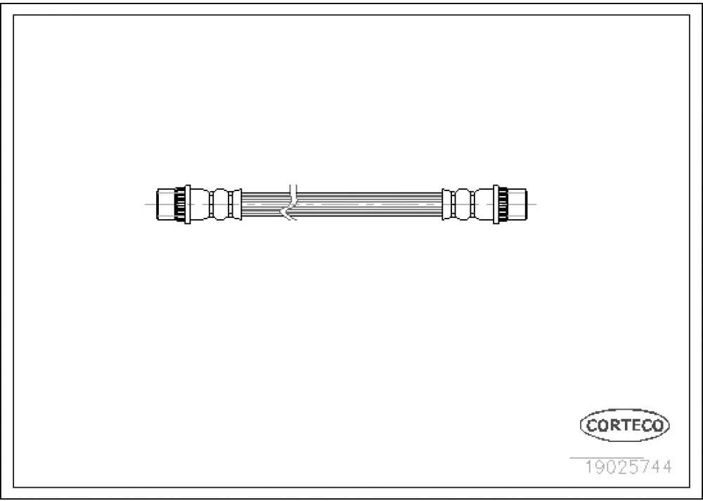 Corteco 19025744 Flexible de frein