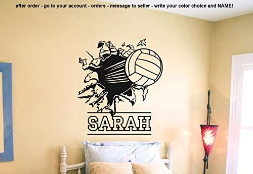 ed428 Details about  / Wall Stickers Volleyball Ball Sports Game Girl Beat Paz Vinyl Decal