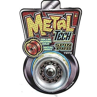 Metal Tech Spin Pro Silver & Black Metal Body Roller Bearing Axe Yo-Yo: Toys & Games