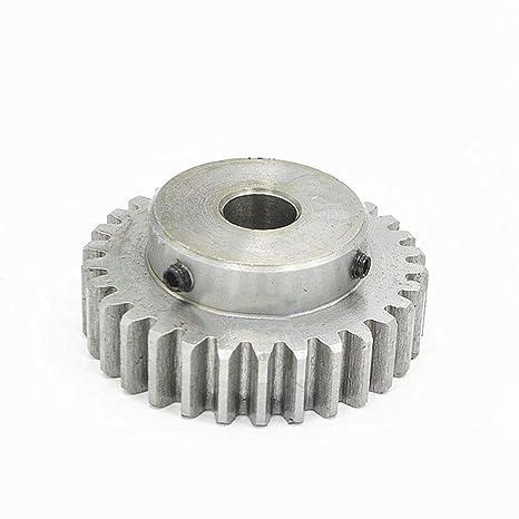 1.5 Modulus Steel Worm Gear Shaft for Drive Gearbox 12mm Hole Diameter