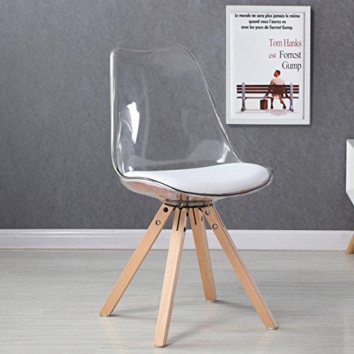 designetsamaison chaise scandinave transparente helsinki amazonfr cuisine maison - Chaise Scandinave Transparente