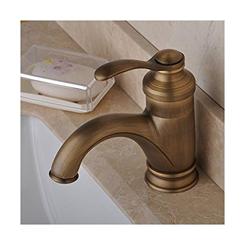 BWE European Style Single Handle Commercial Bathroom Antique Brass Mixer Faucet for Vanity Sink
