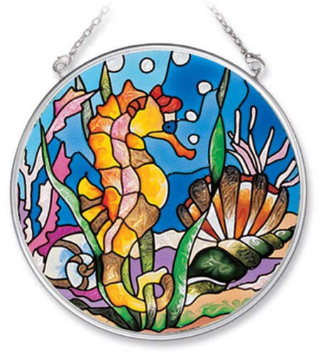 - Stained Glass Suncatcher Seahorse & Shells 4.5