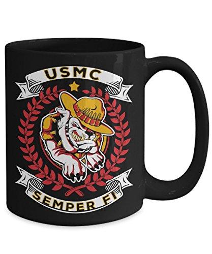 usmc coffee mug black - 7