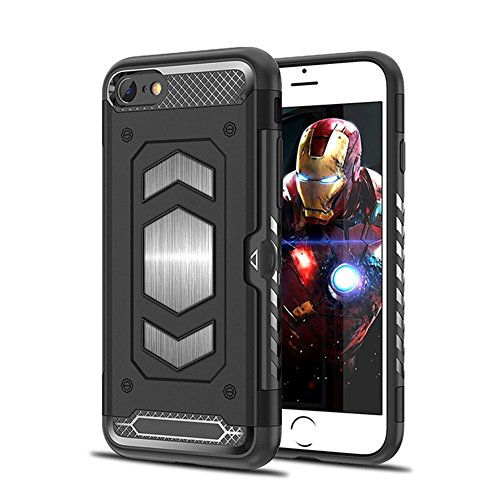 Phone case for iPhone 7, iPhone 8 Alaxry, Protective Case Cover Phone case iPhone 7, iPhone 8 Alaxry, Protective Case Cover Card Holder with Magnetic Back for iPhone 7/iPhone 8,Black