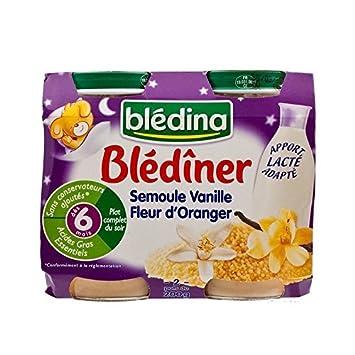 Bledina Blediner Baby Couscous - Vanille Und Orangenblume (6 Monate) 2 X 200 G - Packung mit 6