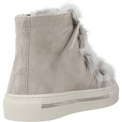 ALPE Fur Trainer Tongue Lace Up Grey wPqBgw