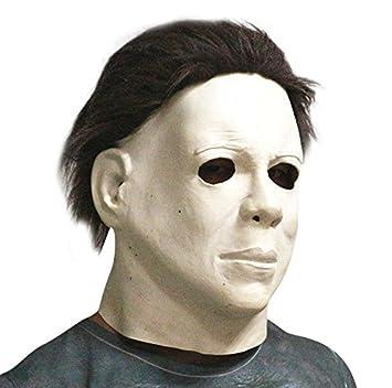 Máscara de película de terror Máscara de Michael Myers - Perfecto para carnaval, Halloween y Carnaval - Disfraz de adulto - Látex, unisexo Talla única