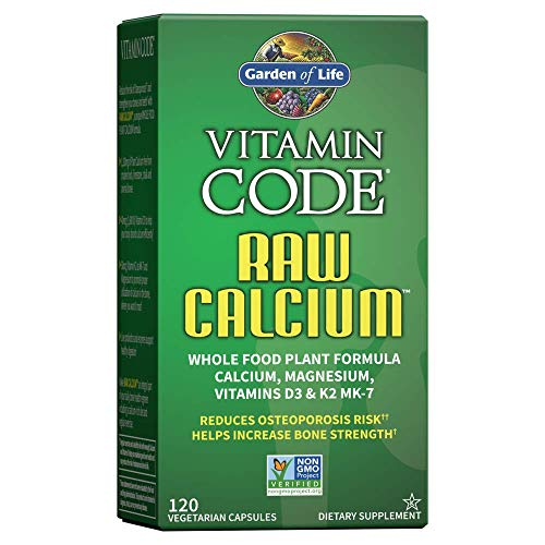 Garden of Life Raw Calcium Supplement for Women and Men – Vitamin Code Made from Whole Foods with Magnesium, K2, Vitamin…