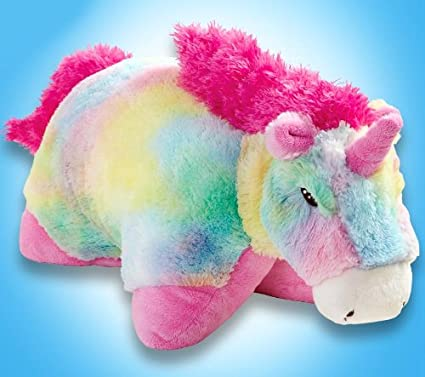 "amazon com my pillow pets large 18\"" rainbow unicorn toys \u0026 games"