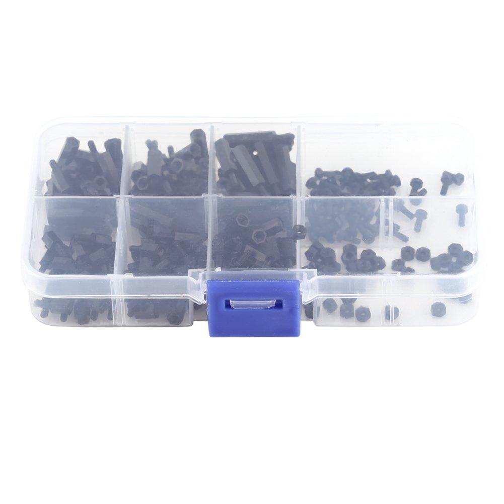 250Pcs M2 /M3 Hex Column Standoff Spacer Pillars Screws Nuts Assortment Kit with Storage Box (M2 Male to Female)