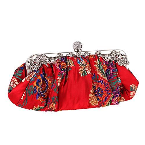 Floral Clutch Pleated Clutch Purse Wedding Party Evening Purse Handbag
