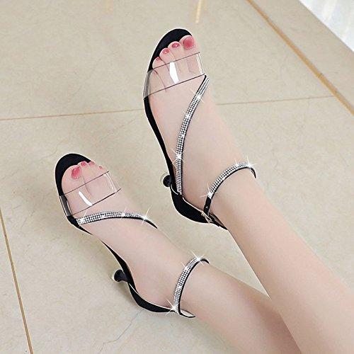 8669a284 60% de descuento ZHZNVX Zapatos de mujer PU confort de verano sandalias  Stiletto talón para