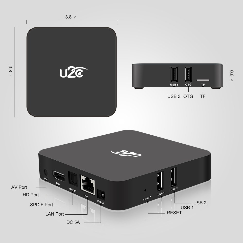 Docooler Android Mini PC Android 7.1 Amlogic S912 Octa-core 64 Bit 3GB / 32GB H.265 UHD 4K Mini PC 2.4G & 5G WiFi 1000M LAN BT 4.1 HD Media Player US Plug by Docooler (Image #5)