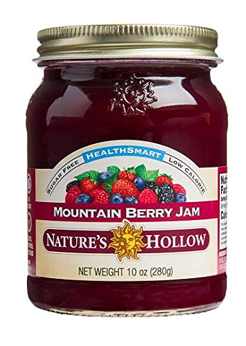 - Nature's Hollow Sugar-Free Mountain Berry Jam Preserves, 10 Ounce