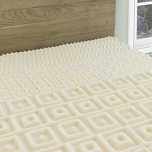 5-Zone Contour Comfort Foam Mattress Topper | 2-Inch Hypoall