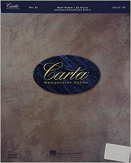 Book Carta Manuscript Paper No. 31 - Mid-Range