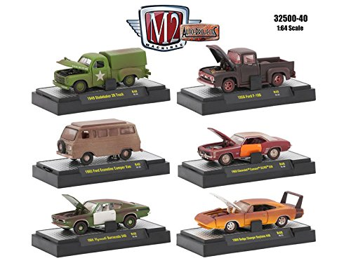 Auto Projects 6 Piece Set Release 40 IN DISPLAY CASES 1/64 by M2 Machines 32500-40 from M2 Machines
