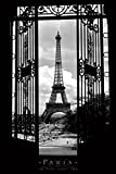 Eiffel Tower in 1909-Paris-Black and White, Photography Poster Print, 24 by 36-Inch