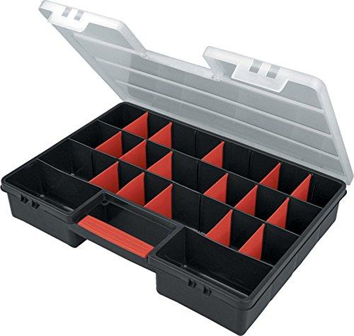 XXL Sortimentskasten 46 x 32 x 8 cm 5-26 F/ächer Organizer Kleinteilemagazin Schraubenbox Werkzeugkasten