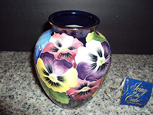 Gorgeous Posy Vase Icing on the Cake Jeanette McCall Blue Sky Rare -