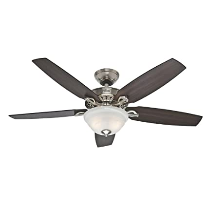 Heathrow 52 in brushed nickel ceiling fan amazon brushed nickel ceiling fan aloadofball Choice Image