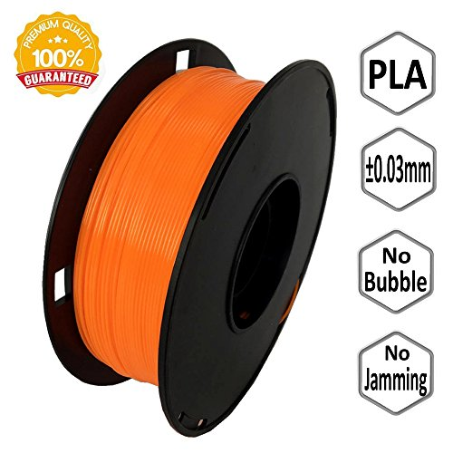 NOVAMAKER 3D Printer Filament - Orange 1.75mm PLA Filament, PLA 1kg(2.2lbs), Dimensional Accuracy +/- 0.03mm