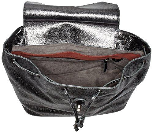 Liebeskind Berlin Wisconsin - Bolsos mochila Mujer Plateado (Rock Grey Metallic)