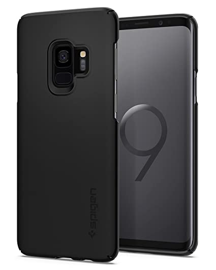 uk availability cc298 ee718 Spigen Thin Fit Designed for Samsung Galaxy S9 Case (2018) - Black