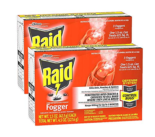 Raid Concentrated Deep Reach Fogger, 1.5 OZ (Pack - 2)