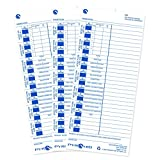 Pyramid English/French Time Cards for 3500, 3550ss, 3600ss and 3700 Time Clocks, 100 Pack