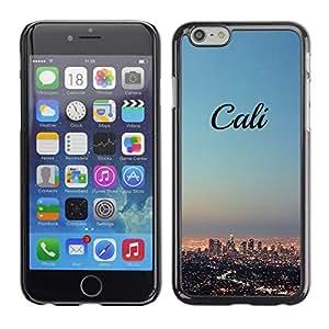 California Horizonte de la ciudad de La Los Angeles - Metal de aluminio y de plástico duro Caja del teléfono - Negro - Apple (5.5 inches!!!) iPhone 6+ Plus / 6S+ Plus