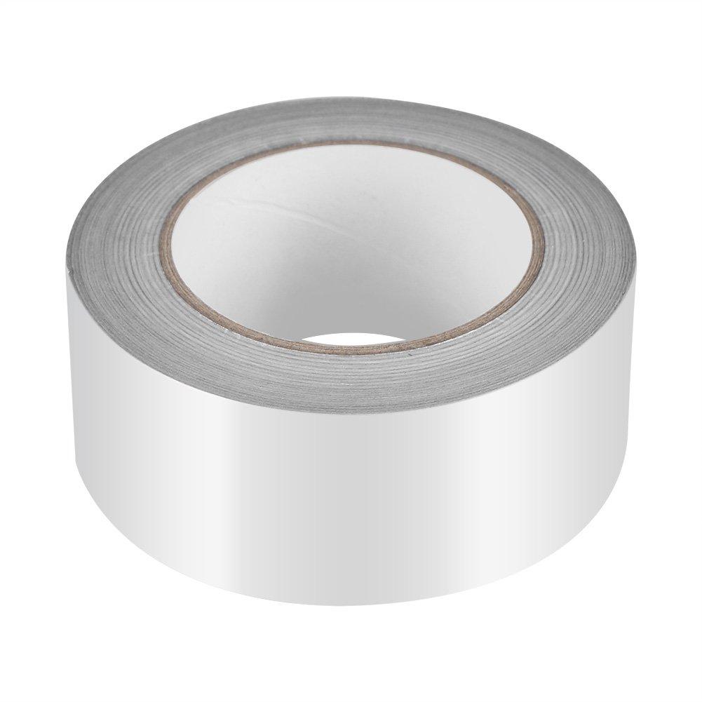 Zerodis 2'' x 164ft Silver Aluminium Foil Tape Adhesive Sealing Heat Shield Tape for Duct Metal Repair Insulation