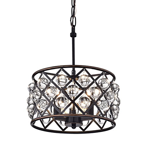 Drum Pendant Light With Crystal in US - 9