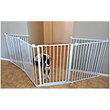 Adjustable Exercise Pen Dog Indoor Wall Gate Safe Mount Pressure Training Yard Pet Fence Folding Portable Playpen & eBook by OISTRIA