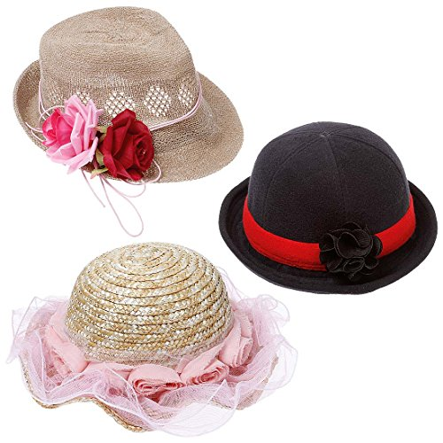 bundle-monster-3-pc-baby-girl-toddler-cute-fashion-headwear-accessory-hats-set-3-country-cute