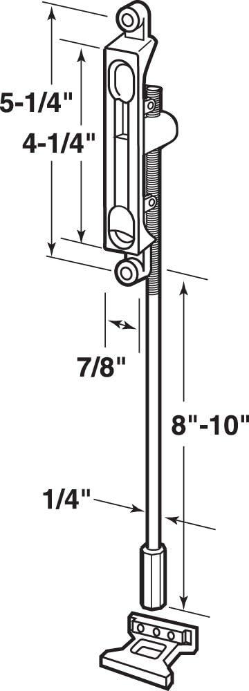 Prime-Line J 4532 Flush Mount Extension Bolt with Bronze Diecast Pack of
