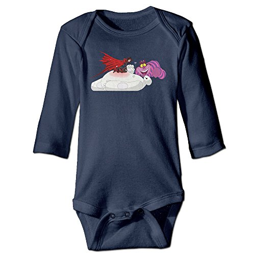 Alice In Wonderland Original For Newborn Baby Clothes Bodysuits Long Sleeved Navy (Alice In Wonderland Cast Costumes)