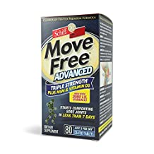 Move Free Triple Strength Glucosamine Chondroitin and Hyaluronic Acid Joint Supplement, 80 Count (Pack of 2)