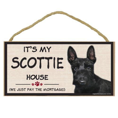 Imagine This Wood Breed Decorative Mortgage Sign, Scottie