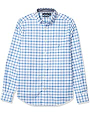 Nautica Men's Oxford Plaid Long Sleeve Button Down Shirt